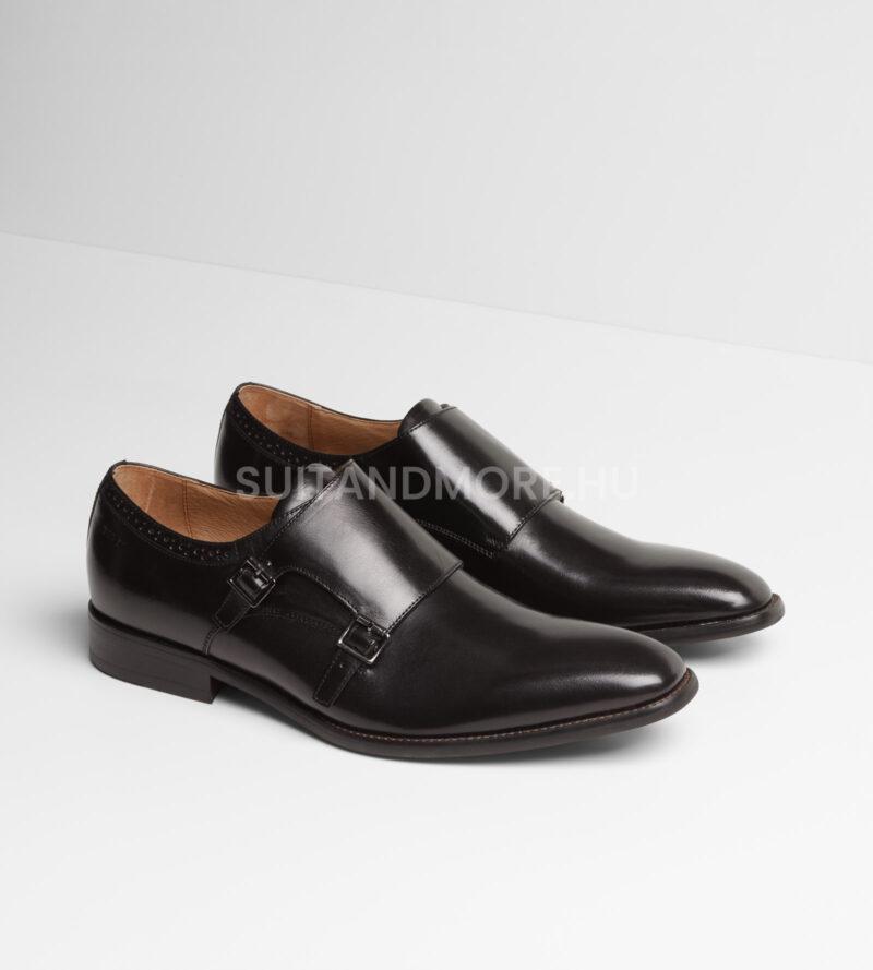 DIGEL-fekete-dupla-csatos-elegáns-cipő-SALOMON-1001908-10-01