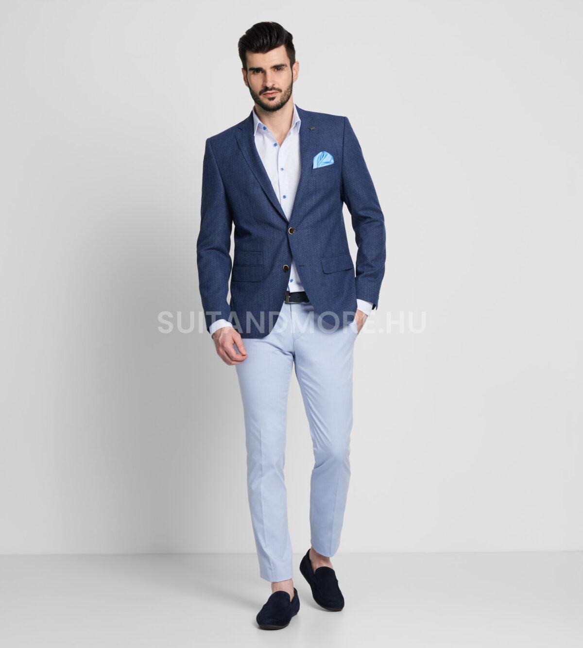 DIGEL-kék-slim-fit-strukturált-zakó-ALBANO-1182383-22-01