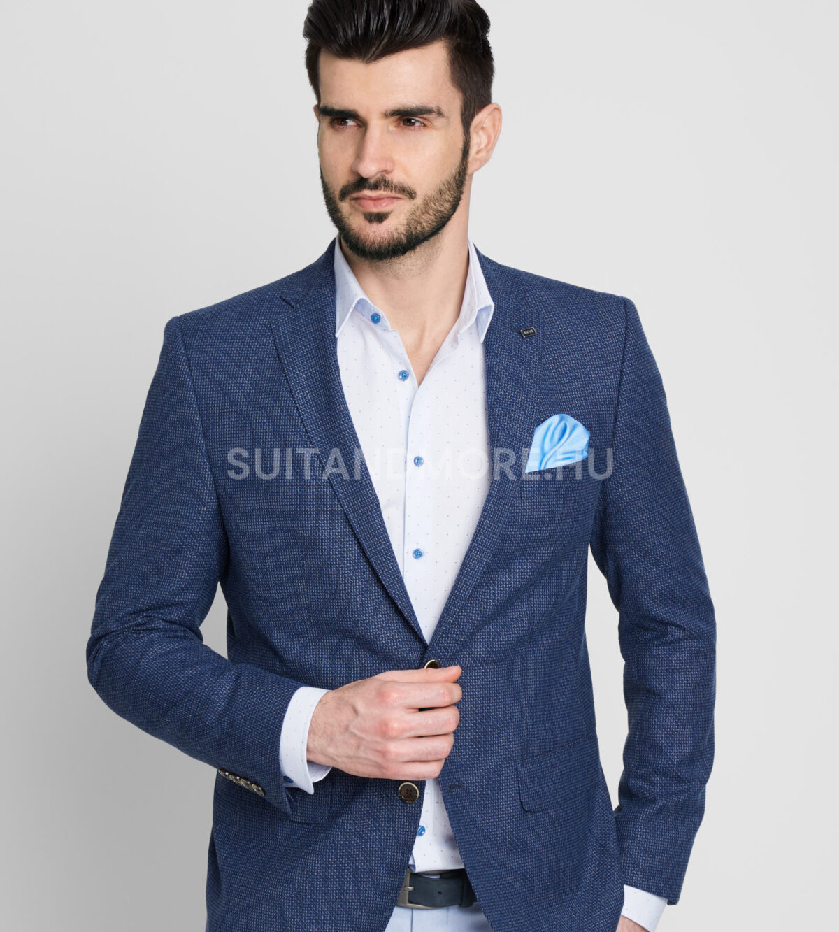 DIGEL-kék-slim-fit-strukturált-zakó-ALBANO-1182383-22-02