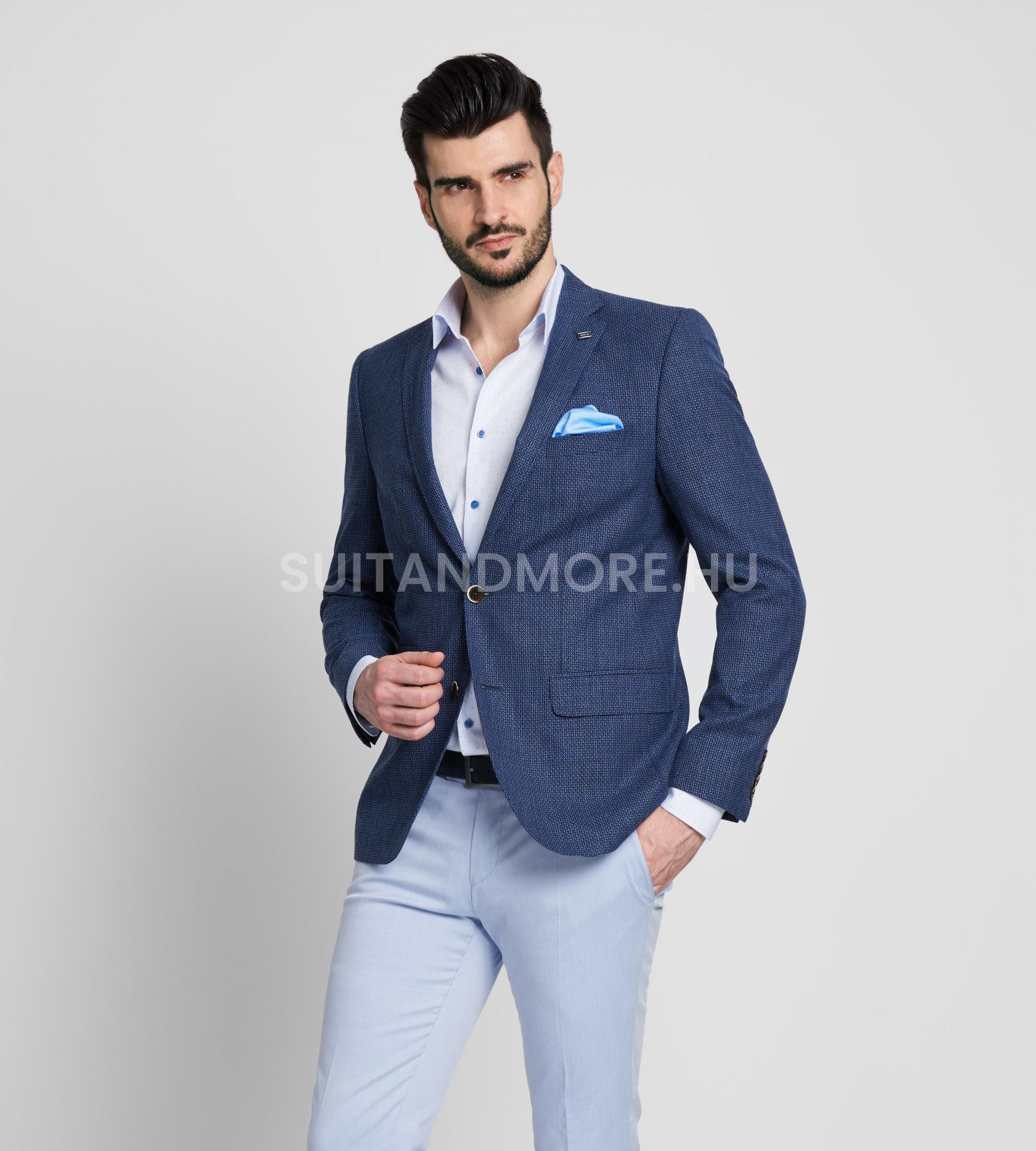 DIGEL-kék-slim-fit-strukturált-zakó-ALBANO-1182383-22-03