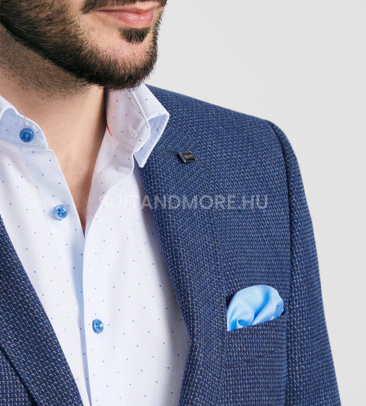 DIGEL-kék-slim-fit-strukturált-zakó-ALBANO-1182383-22-04