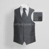 DIGEL selyemfényű szürke francia nyakkendő szett díszzsebkendővel-LAURENT-LOY-1160944-43