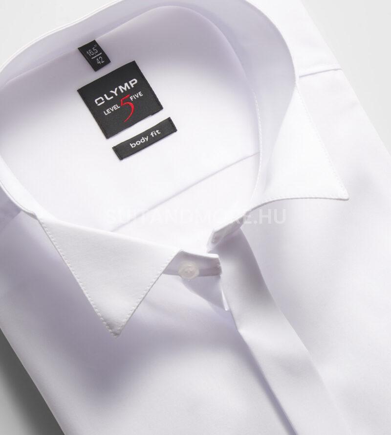 OLYMP-Level-Five-fehér-body-fit-vasaláskönnyített-ing-3077-65-00-02