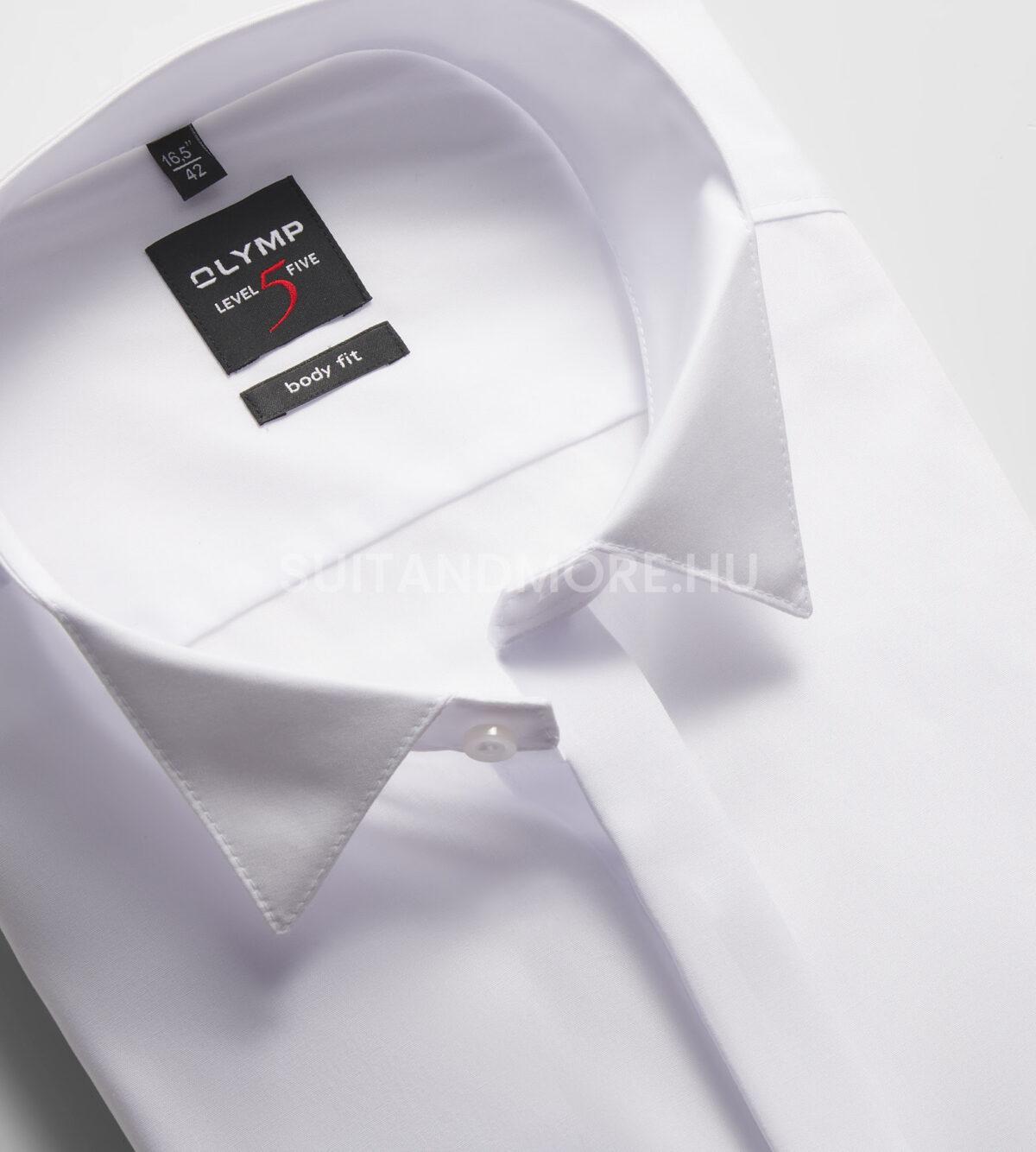 OLYMP-Level-Five-fehér-body-fit-vasaláskönnyített-ing-3077-70-00-02