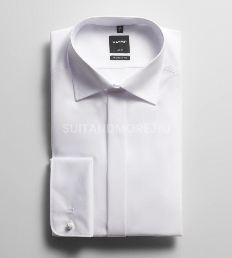 OLYMP-Luxor-fehér-modern-fit-vasalásmentes-ing-0394-70-00-01