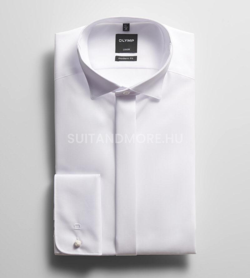 OLYMP-Luxor-fehér-modern-fit-vasalásmentes-ing-0395-65-00-01