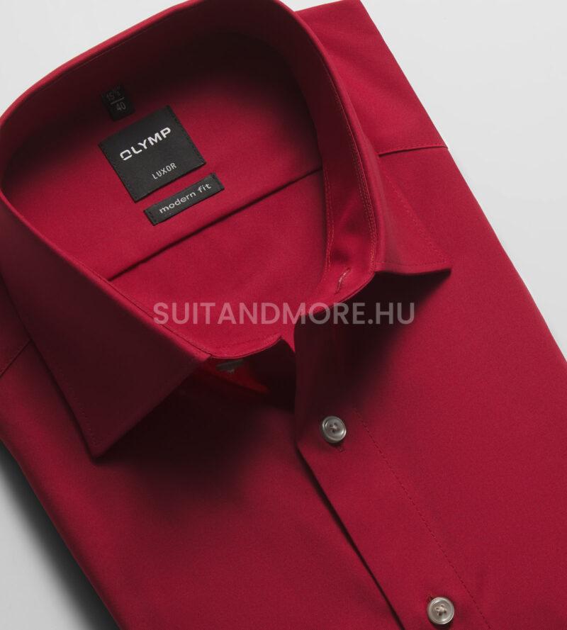 OLYMP-Luxor-vörös-modern-fit-vasalásmentes-ing-0300-64-38-02