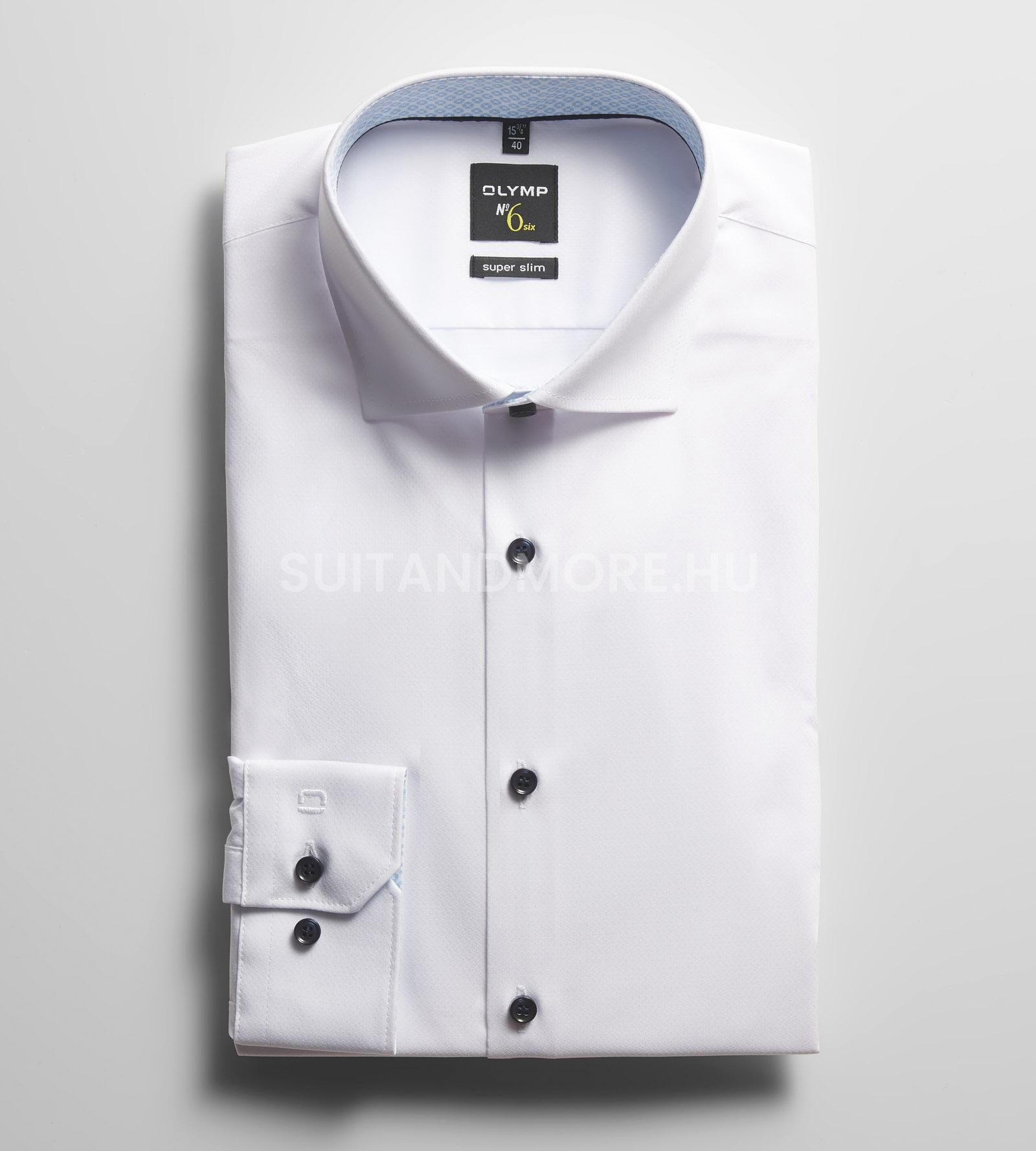 OLYMP-No-Six-fehér-super-slim-vasaláskönnyített-ing-2540-34-00-01