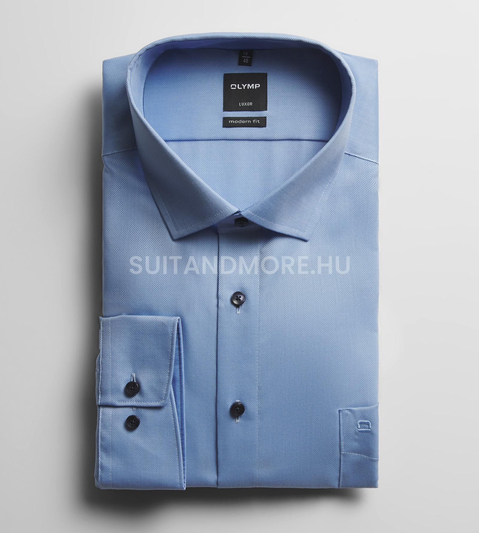 OLYMP-kék-modern-fit-strukturált-vasaláskönnyített-ing-0400-64-11-01