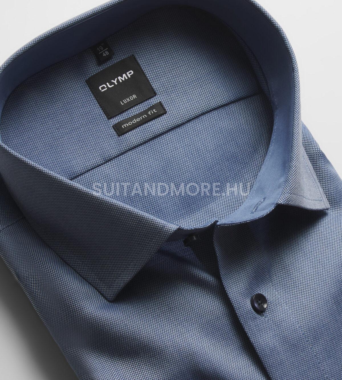 OLYMP-kék-modern-fit-strukturált-vasaláskönnyített-ing-0400-64-18-02