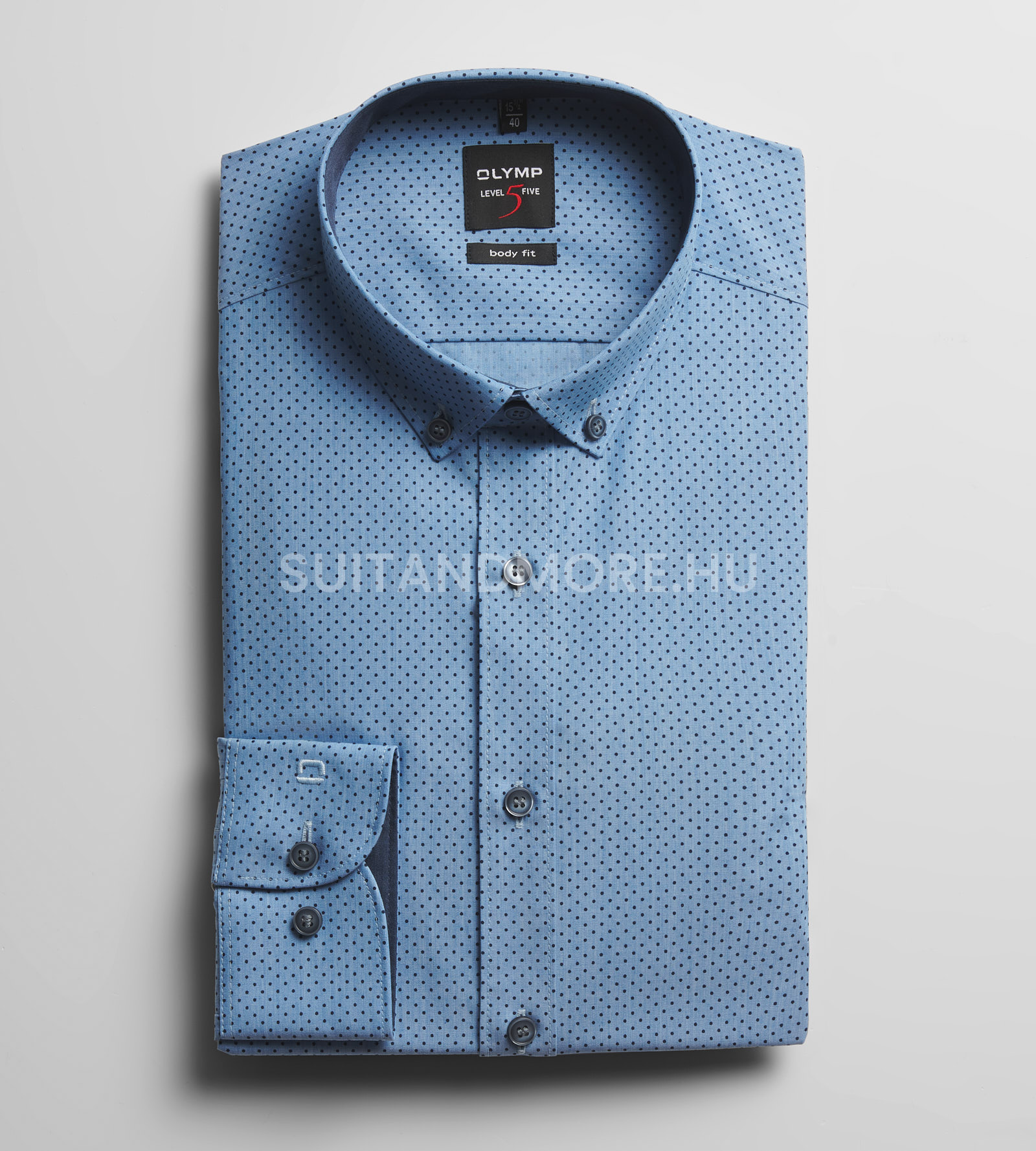 OLYMP-kék-slim-fit-pettyes-vasaláskönnyített-ing-2118-74-11-01