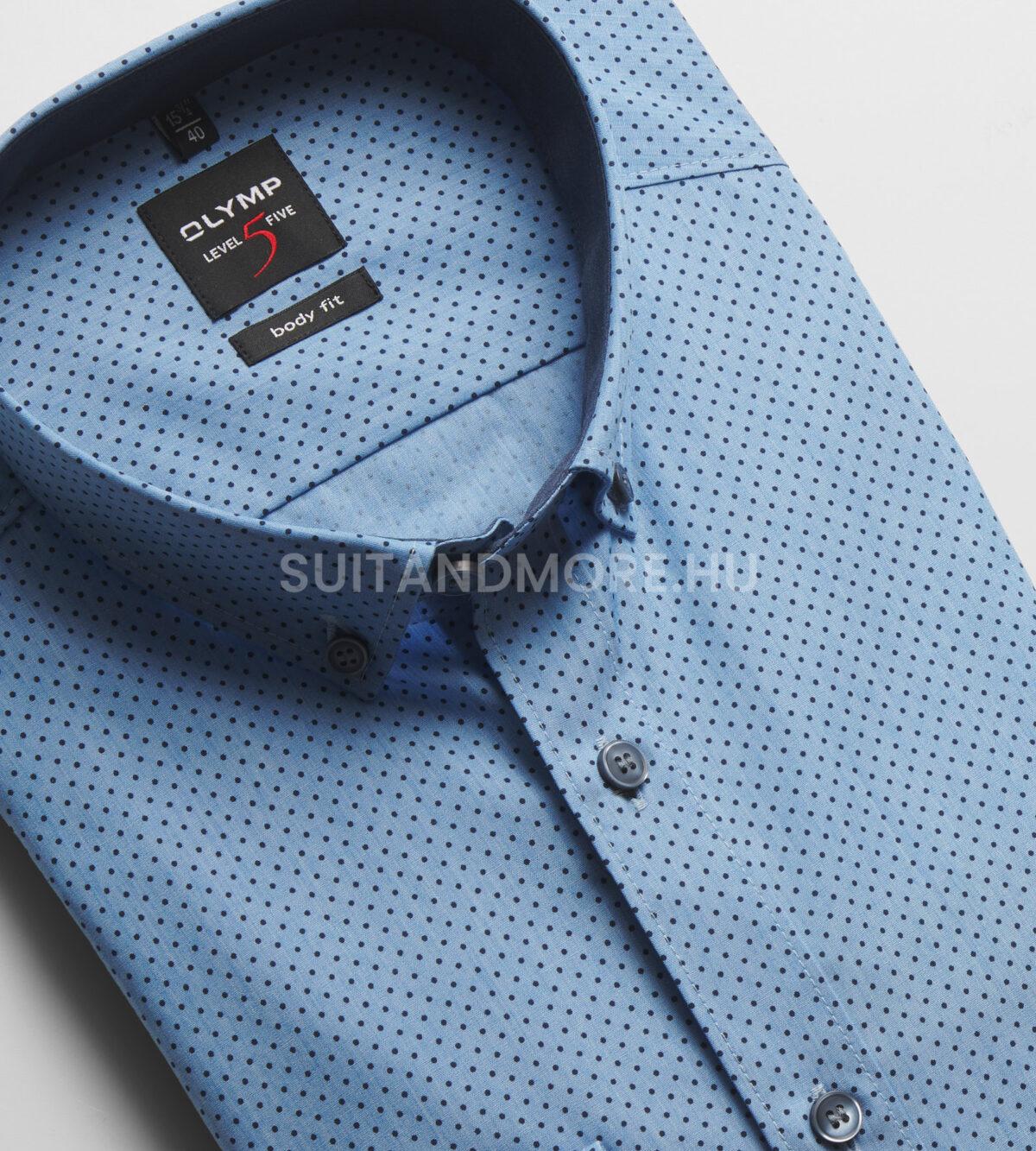 OLYMP-kék-slim-fit-pettyes-vasaláskönnyített-ing-2118-74-11-02