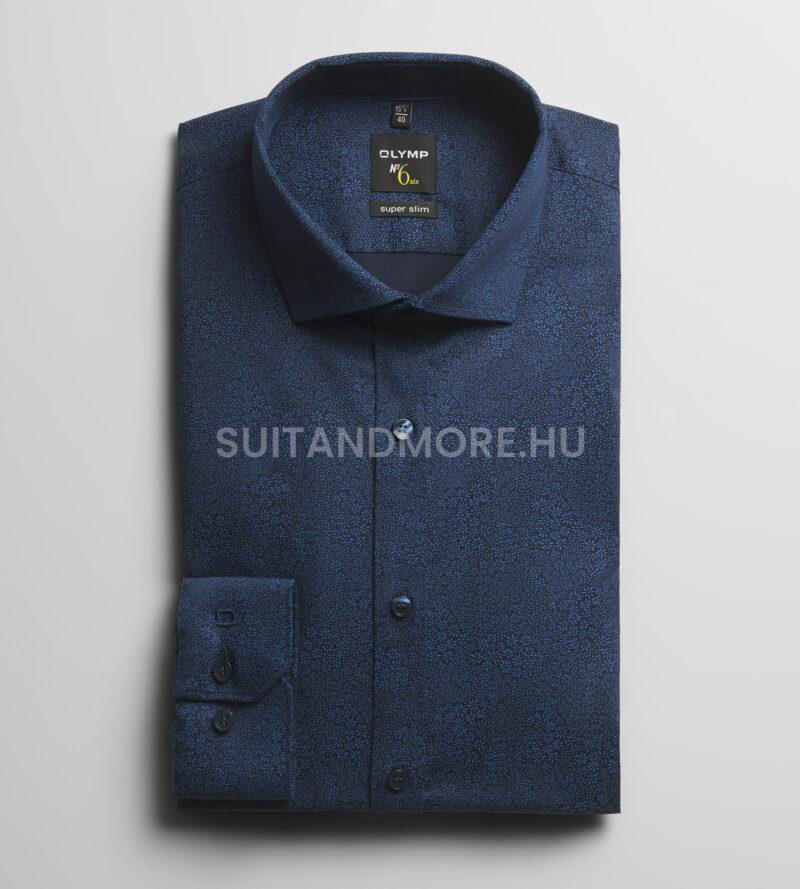 Olymp-kék-extra-slim-fit-nyomott-mintás-ing-vasaláskönnyített-2576-74-18-01