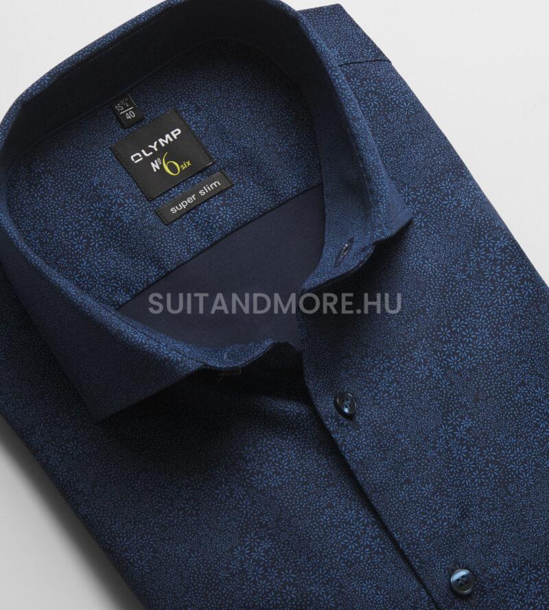 Olymp-kék-extra-slim-fit-nyomott-mintás-ing-vasaláskönnyített-2576-74-18-02