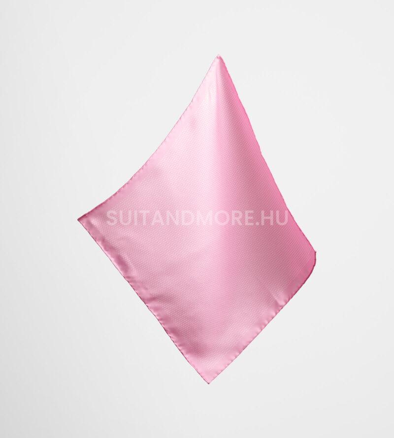 OLYMP rózsaszín pöttyös selyem díszzsebkendő